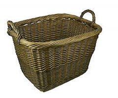 Small Country Log Basket 0397