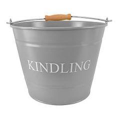 Small Kindling Bucket Grey 0361