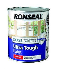 Ronseal Stays White Tough Satin 2.5L
