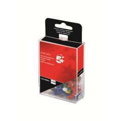 Push Pins Assorted Colours Pack Of 100