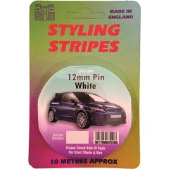 Single Stripe White 12Mm 10M Length