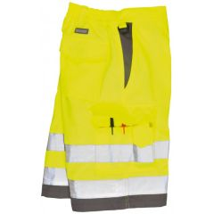 Hivis Polycotton Shorts Yellowgrey Large