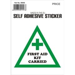 Outdoor Vinyl Sticker White First Aid Kit On Board