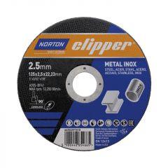 Norton Clipper Metal Cutting Disc 125 X 2.5 X 22Mm