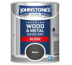 Johnstone's Quick Dry Gloss 750Ml Black