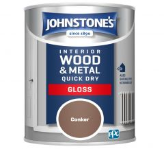 Johnstone's Quick Dry Gloss 750Ml Conker