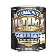 Hammerite Ultima Smooth Metal Paint 750Ml White