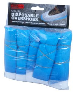 Blackrock Disposable Plastic Overshoes 5Pairs
