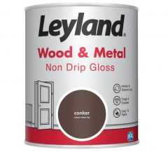 Leyland Wood & Metal Non Drip Gloss Conker 750Ml