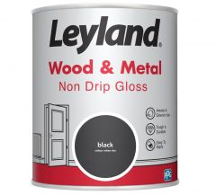 Leyland Wood & Metal Non Drip Gloss Black 750Ml