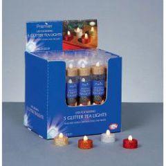 Led Glitter Tea Light - Battery Operated