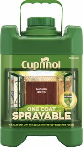 Cuprinol Sprayable Fence Treatment 5L Harvest Brown