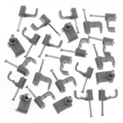 Supalec Cable Clips Flat Pack 10 14Mm