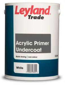 Leyland Trade Acrylic Primer Undercoat 5L White