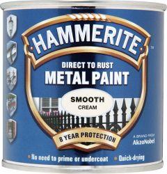 Hammerite Metal Paint Smooth 250Ml Cream