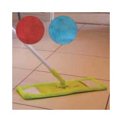 Jvl Flat Microfibre Mop And Handle Assorted Colours