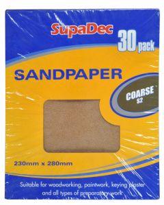 Supadec General Purpose Sandpaper Pack 30 Coarse S2