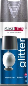 Plastikote Glitter Spray Paint 400Ml Silver