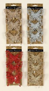 Glitter Butterflies 4 Assorted