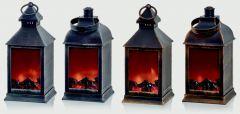 Fireplace Lantern With Brush Effect