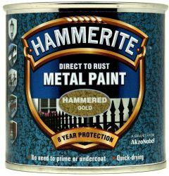 Hammerite Metal Paint Hammered 250Ml Gold