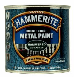 Hammerite Metal Paint Hammered 250Ml Dark Green
