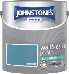 Johnstone's Wall & Ceiling Soft Sheen 2.5L Teal Topaz