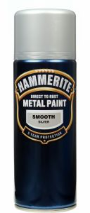 Hammerite Metal Paint 400Ml Aerosol Smooth Silver