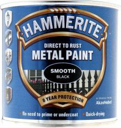 Hammerite Metal Paint Smooth 250Ml Black