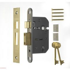 Era 3 5 Lever Viscount Mortice Sashlock Finish: Brass Effect
