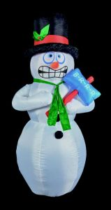 Inflatable Shivering Snowman