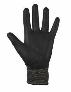 Glenwear Black Pu Gloves 9 - Large 12 Pairs