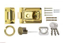 Era Traditional Nightlatch Brass Effect Body Brass Effect 60Mm