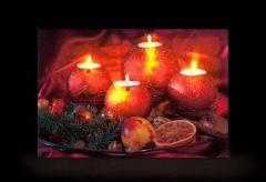 Candle & Fruit Wall Painting Picture