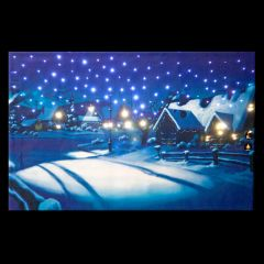 Battery Operated Fibre Optic Wall Canvas