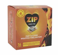 Zip Fast & Clean Wrapped Firelighters Pack 16