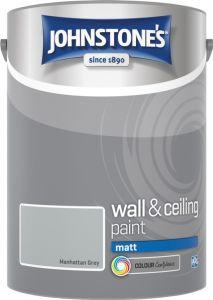 Johnstone's Wall & Ceiling Matt 5L Manhattan Grey