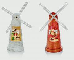 Windmill Water Spinner Santa