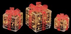 Acrylic Clear Red Parcels With White Leds