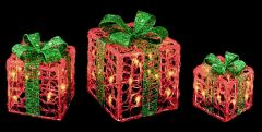 Red Green Parcels With Warm White Leds