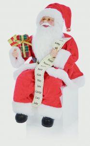 Sitting Santa With Glasses