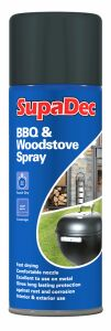 Supadec Bbq & Woodstove Spray Black 400Ml