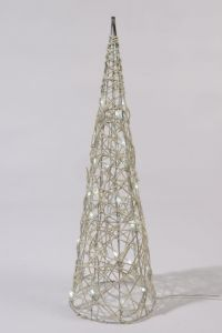 Led Wicker Pyramid Cool White