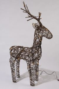 Led Wicker Deer