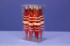 Red/White Stripe Tree Drop Decoration