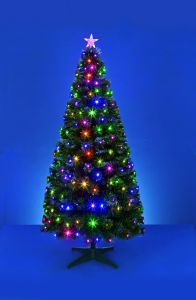 Green Led Tree With White Lights