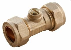 Oracstar Compression Isolating Valve 15 X 15Mm Slotted Brass
