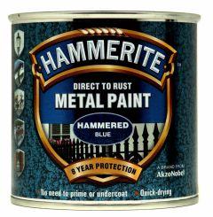 Hammerite Metal Paint Hammered 250Ml Blue