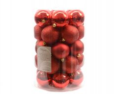 Plain Shatterproof Baubles Pack 34