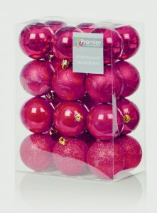 Multi Finish Baubles 24 X 60Mm
